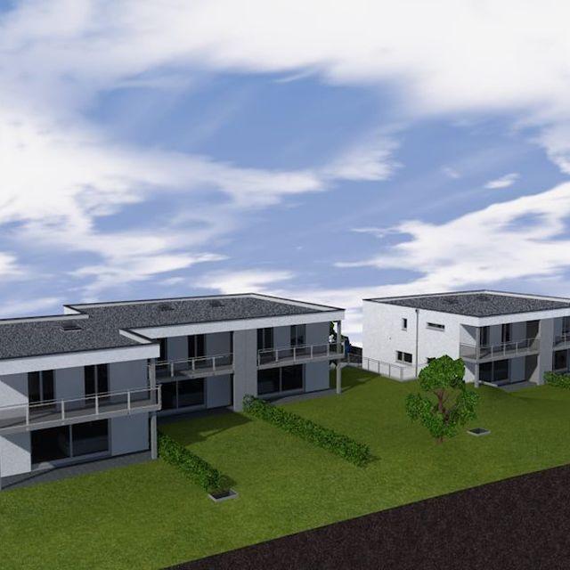 Realisiertes Projekt einer EFH-Wohnsiedlung in Gams