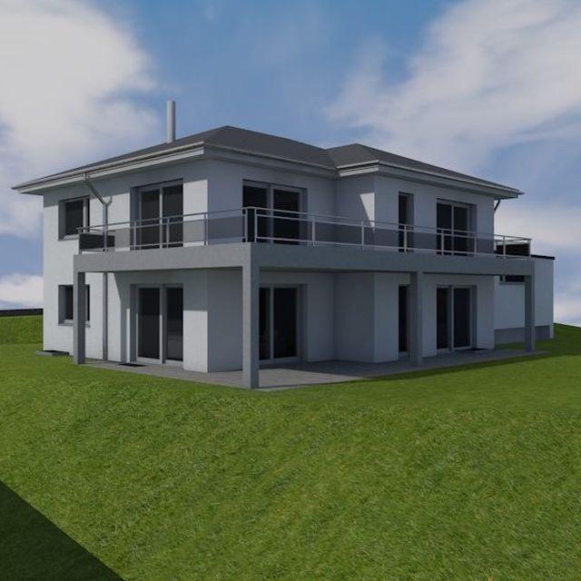 Referenz-Projekt: Landhaus an leichter Hanglage.