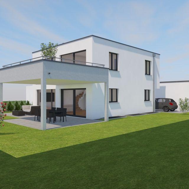 Neubau Einfamilienhaus Perspektive