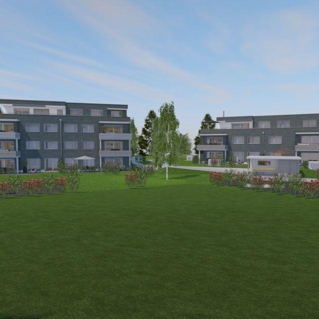 Zwei Mehrfamilienhäuser mit zwölf Wohneinheiten