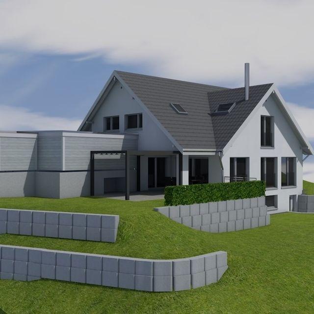 EFH-Projekt im Zürcher Oberland – Visualisierung