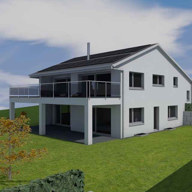 einfamilienhaus mit doppelgarage modern ostseesuche com. Black Bedroom Furniture Sets. Home Design Ideas