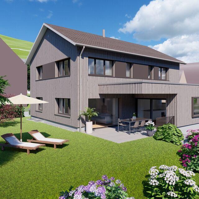 Einfamilienhaus in Marbach Südansicht