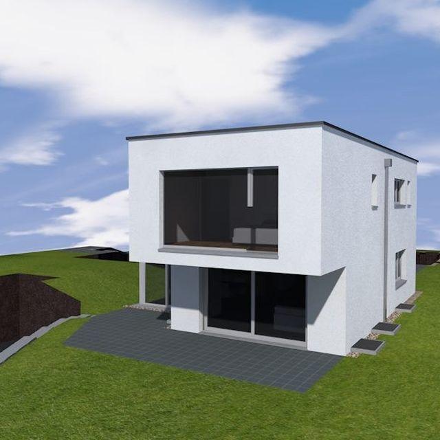 EFH-Projekt in Häggenschwil, SG – Ansicht SW